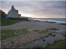 NG7386 : House on the beach by Richard Dorrell