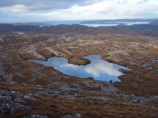 Lochan at end of Meall an Spardain North ridge