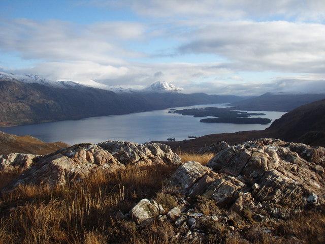 View across Loch Maree to Slioch