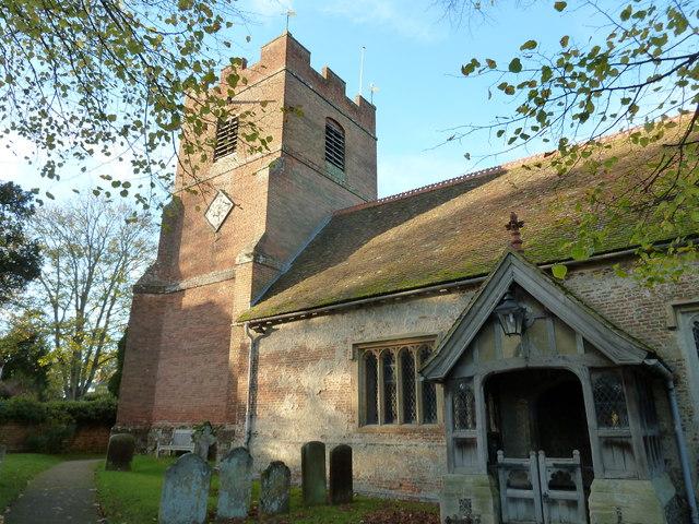 Rotherwick Church- an autumnal churchyard (E)