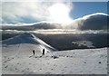 NY2628 : Walking up to Skiddaw South Top by Walter Baxter