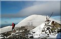 NY2627 : Skiddaw Lesser Man summit by Walter Baxter