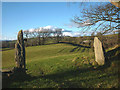 SD5396 : Stone gateposts at Littlemire by Karl and Ali