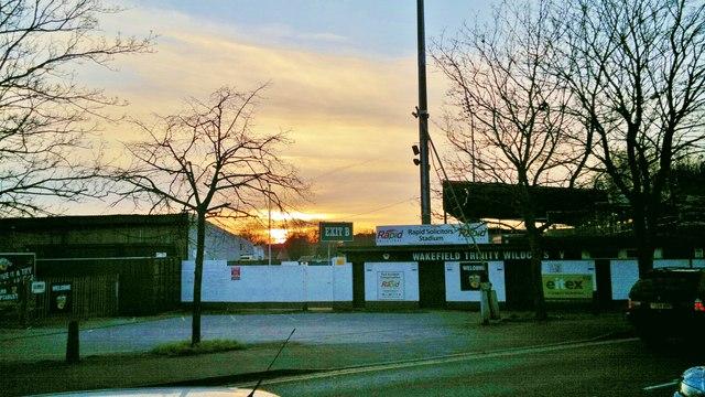 Wakefield Trinity Wildcats at sunset, Rapid Solicitors Stadium