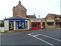 SO8005 : Row of three Bath Road shops, Stonehouse by Jaggery