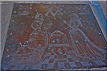 TQ9245 : Brass to Richard Dering and wife Margaret, Pluckley church by Julian P Guffogg