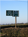 TL3160 : Lawn Farm/Lawn Farm Fishery sign by Adrian Cable
