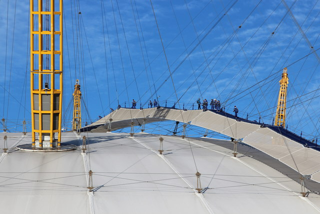 Climbing The O2 Arena 169 Oast House Archive Geograph