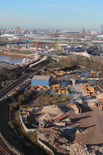 Industrial area near Dock Road