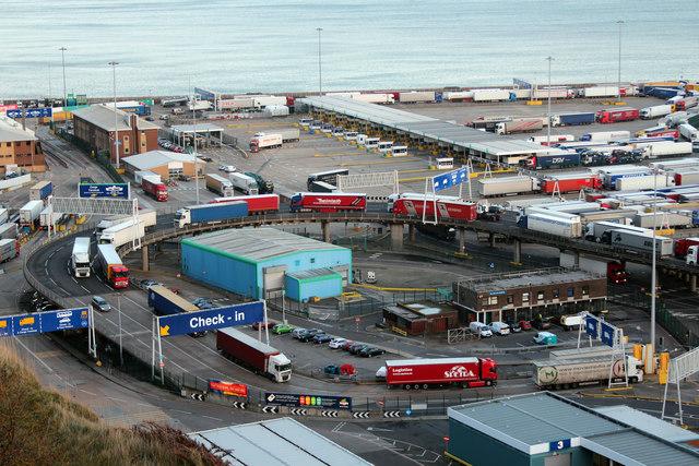 Lorries leaving Eastern Docks