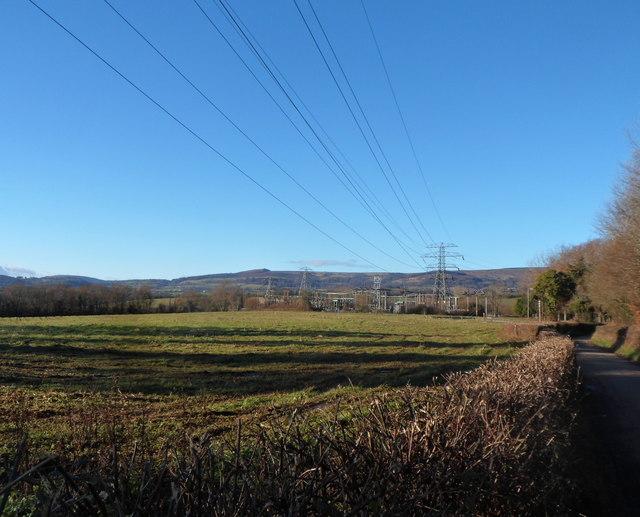 Rural power lines, Llantarnam