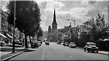 TQ3473 : SE on Lordship Lane, near Overhill Road, London SE22, 1962 by Ben Brooksbank