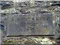 NY6903 : Plaque on chimney, Weasdale by Karl and Ali