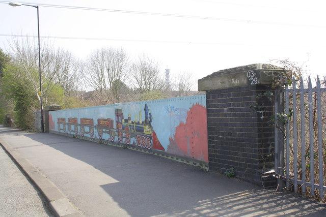 Southern parapet of Constable Road railway bridge