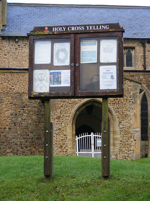 Notice Board of Holy Cross Church, Yelling
