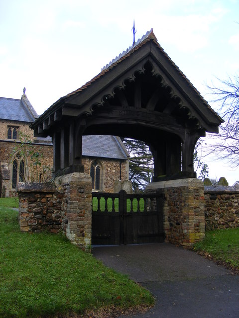 Lych Gate of Holy Cross Church Yelling