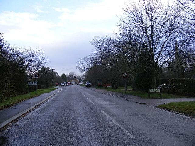 Entering Eltisley on St.Neots Road