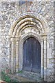 TR0233 : Norman west door, St Mary Magdalene church, Ruckinge by Julian P Guffogg