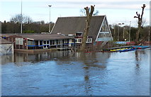 SK5907 : Flooding at Leicester Outdoor Pursuits Centre by Mat Fascione