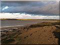 TQ8995 : Easter Reach shore by Roger Jones