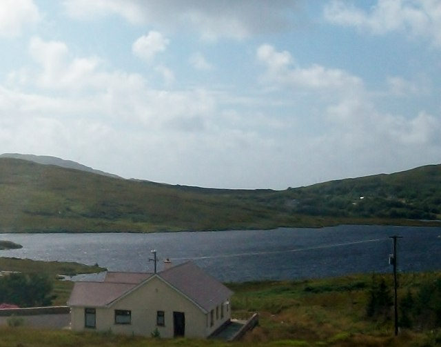 Lough Nageeragh from below the moorland road