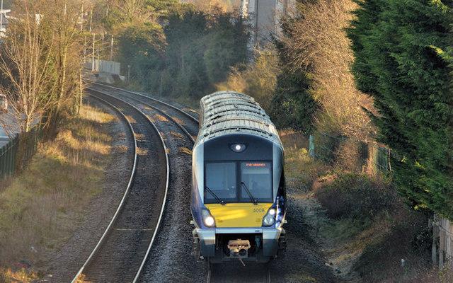 Train near Balmoral, Belfast