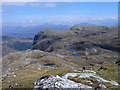 NG8844 : Crags and lochans of north face of Sgùrr a' Gharaidh by Trevor Littlewood