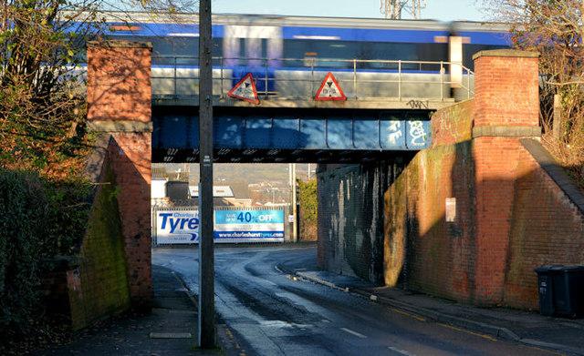 Railway underbridge, Balmoral, Belfast