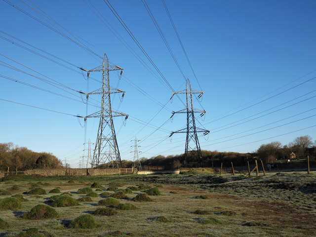 Burton Bridge, West Aberthaw - Transmission Pylons