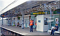 SU9504 : Barnham station, Up platform by Ben Brooksbank