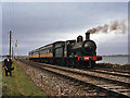 O2246 : Steam train on Malahide causeway by The Carlisle Kid