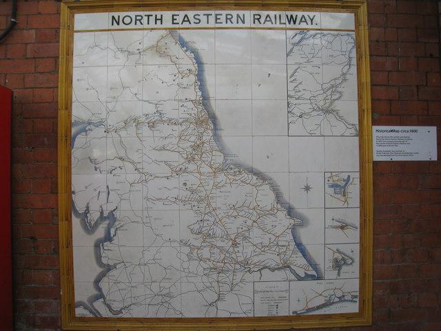 North Eastern Railway map, Hartlepool station