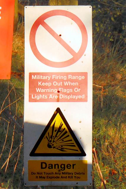MOD Danger Area Warning Sign