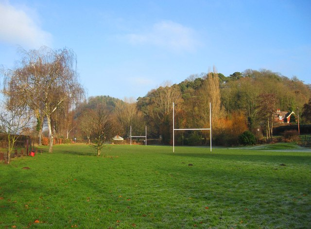 Rugby pitch at Severn Park, Bridgnorth