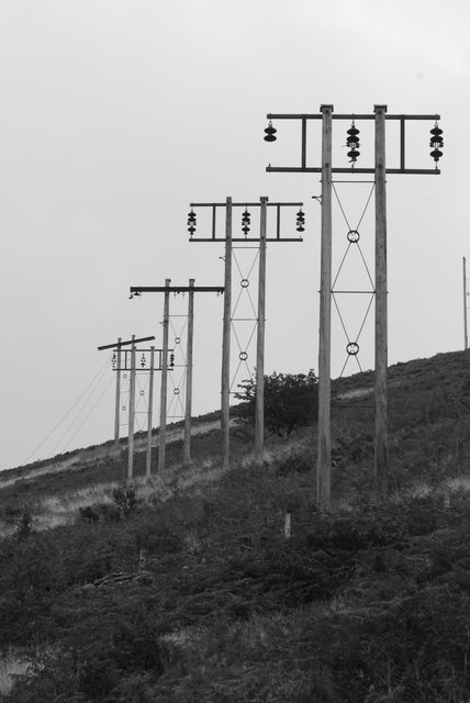 Telegraph poles at Silent Valley