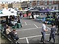 TQ2881 : Sunday market by Aybrook Street W1 by Robin Stott