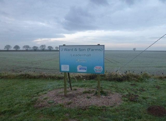 J Ward and Son (Farms) entrance sign