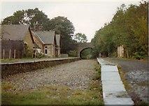 SD8789 : Hawes railway station by John Winder