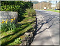 SH7955 : A slate welcome to Betws-y-Coed by Jaggery