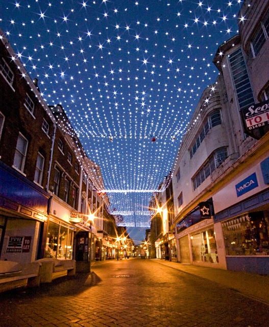 Christmas lights in Whitefriargate, Hull