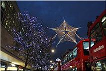 TQ2881 : Christmas Lighting, Oxford Street, London W1 by Christine Matthews