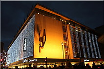 TQ2881 : John Lewis, Oxford Street, London W1 by Christine Matthews