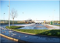 NS7061 : The car park at the new Tannochside Primary School by Elliott Simpson