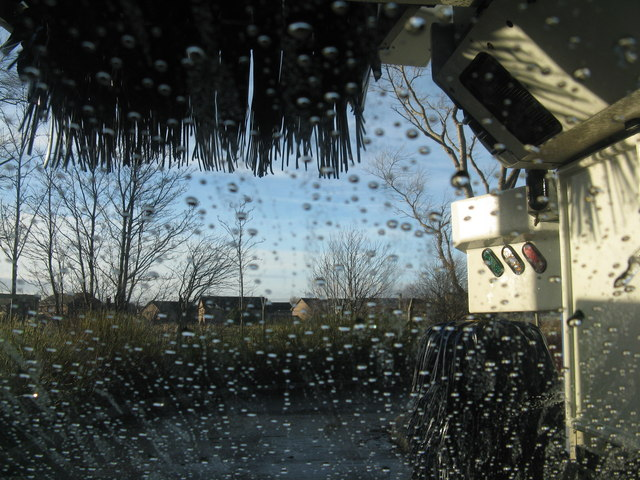 Looking out of the car wash