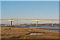 TM1740 : Towards the Orwell Bridge by Ian Capper