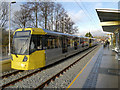 SD9408 : Metrolink Trams at Shaw by David Dixon