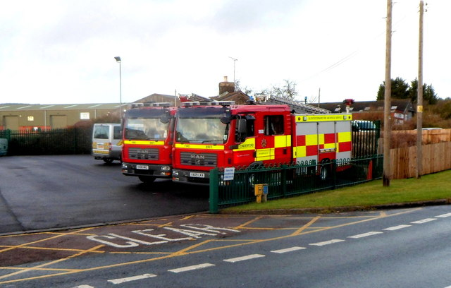 Two Cinderford fire engines