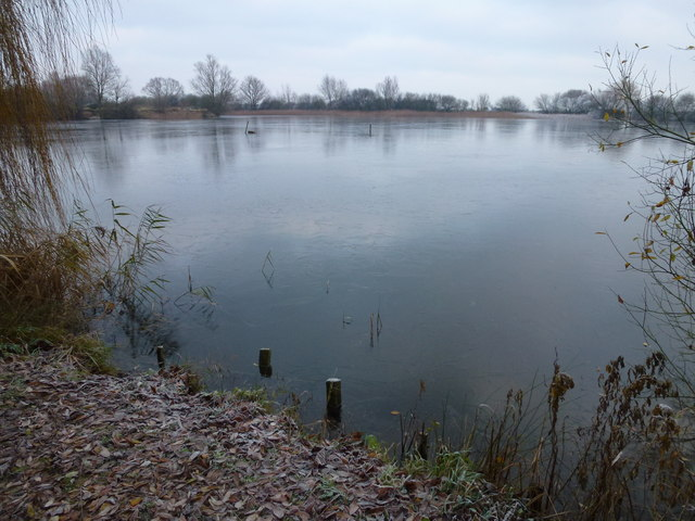 Lake at the end of Block Fen Drove