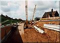 SJ9242 : Meir tunnel West Portal (under construction) by Chris Beaver