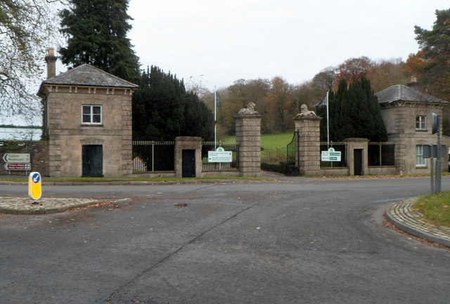 Southern entrance to Chepstow racecourse